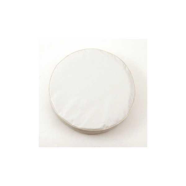 Housse de roue unie blanche diamètre 68 CM