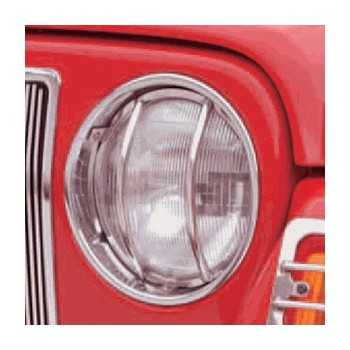 Grille de phare avant inox Jeep Wrangler TJ 1997-2006