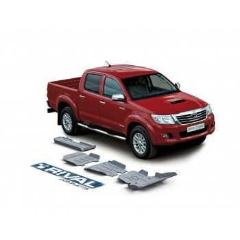 Blindage RIVAL aluminium 6 mm complet AV et AR Toyota Hilux Vigo 2007-2015
