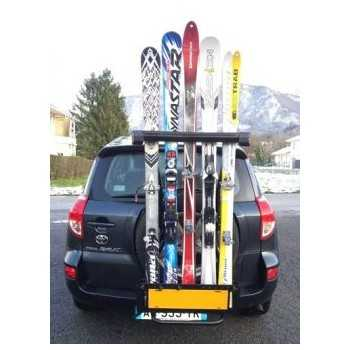 Porte ski acier noire 5 paires