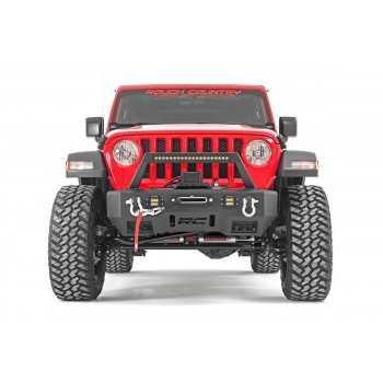 Pare-chocs avant en acier à LED avec support de treuil Jeep Wrangler JL