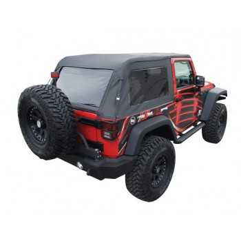Capotage noir Jeep Wrangler JK 2007-2018