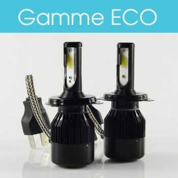 Ampoules LED H4 55W homologuées 6000lm (la paire)