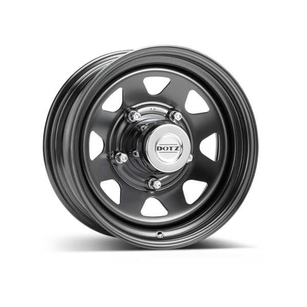 Jante acier DOTZ DAKAR noire 7,5X18 Nissan Navara NP300 2015-