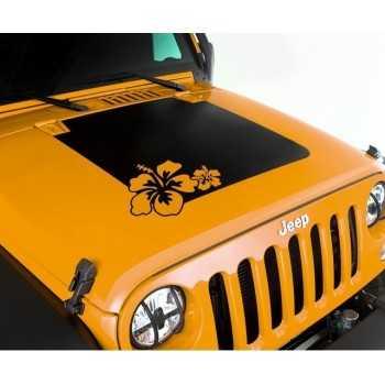 Decalcomanie en vinyl fleur Jeep Wrangler JK 2007-