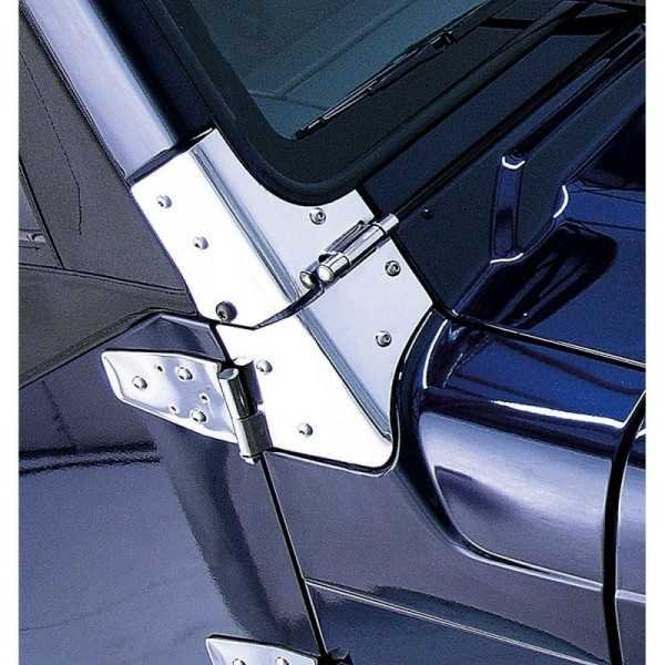 Charnieres de baie de pare brise Jeep Wrangler TJ 97-06