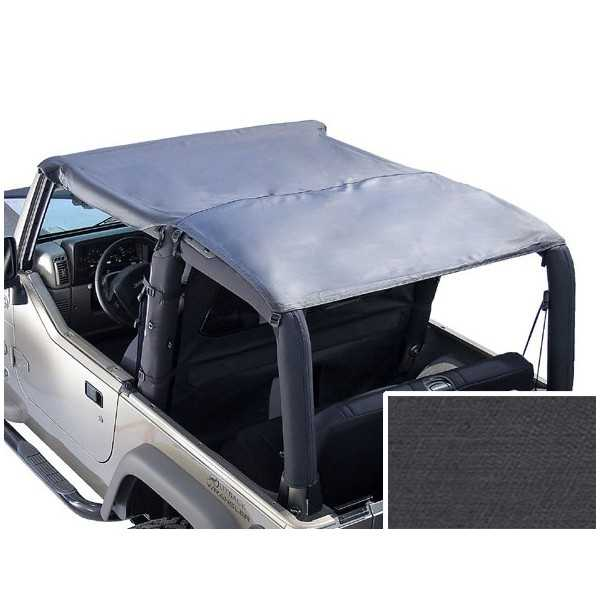 Bikini ISLAND TOPPERS noir denin Jeep CJ7 & Wrangler 1976-1991