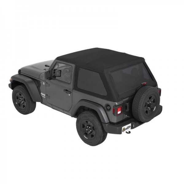 Capotage Bestop® trektop noir Jeep Wrangler JL 2018+ 2 portes