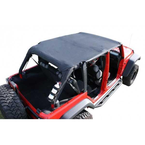 Island Toppers soft top noir Jeep Wrangler JK 2007-2009 4 portes