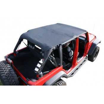 Bikini Island Toppers noir Jeep Wrangler JK 2007-2009 4 portes