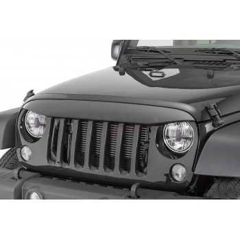 XuBa Lot de 3 Housses de poign/ée de Porte de Voiture en Aluminium pour Jeep Wrangler JK 2007-2017 2 Portes