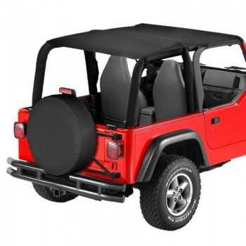 Bikini® Tops Bestop® Safari noir Jeep Wrangler TJ 2003-2006