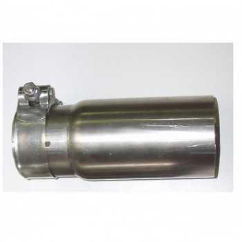 Embout d'échappement inox diamètre extérieur 70 droit pour tube de 60 mm