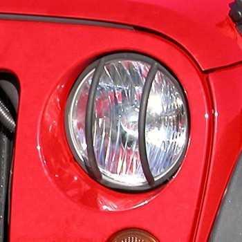 Grille de phare avant noire Jeep Wrangler JK 2007+
