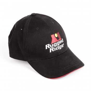 Casquette Rugged Ridge Noir & Rouge Réglable