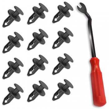 Agrafes rivets clips pour pare-choc en nylon 8 mm + 1 pince