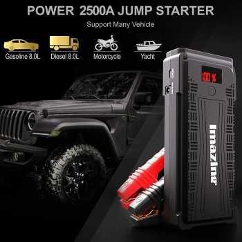 Booster de Batterie 2500A 20000 mAh Portable et Alimentation Eléctrique d'Urgence