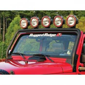 Support de phare sur pare brise Jeep Wrangler JK 2007-2018
