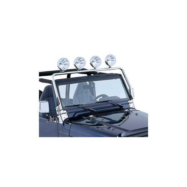 Support de phare sur baie de pare brise Jeep Wrangler TJ 97-2006