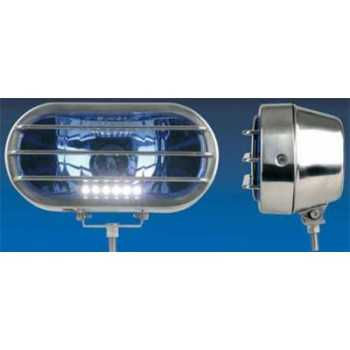 Phare rectangulaire gladiateur avec led 24 V H1 70W