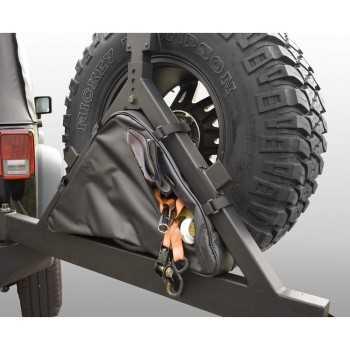Sac de rangement sur porte roue arriere Jeep Wrangler 76-2012