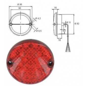 FEU ANTIBROUILLARD AR LED 12 V