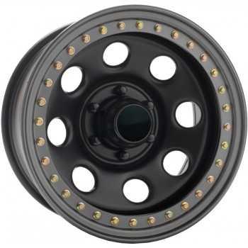 Jante acier SOFT 8 satin noire bead lock 10X15 ET-44 Jeep Wrangler YJ-TJ
