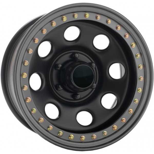 Jante acier SOFT 8 satin noire bead lock 9X17 Toyota-Nissan-Mitsubitshi