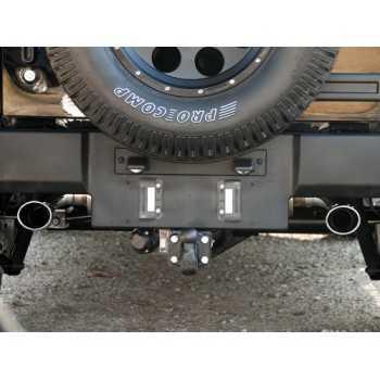 Silencieux d'échappement double sortie ronde Jeep Wrangler JK 2.8L. CRD- 3.6L. / 3.8L ESS. 2007-2018
