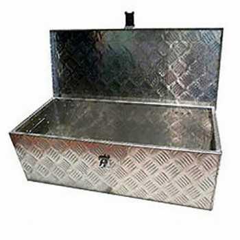 Coffre de rangement en aluminium