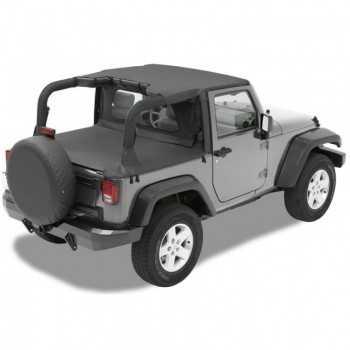 Bikini® Tops noir Jeep Wrangler JK 2007-2009 2 portes