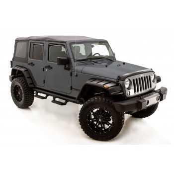 Elargisseurs d'elargisseur d'ailes LUND Jeep Wrangler JK 2007-2018 2 & 4 portes