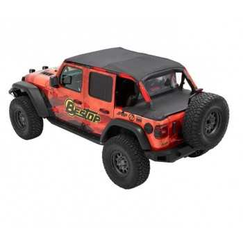 Bikini® safari Tops Black Diamond  Jeep Wrangler JL / Gladiator JT 2018+  2 portes