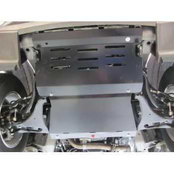 Blindage moteur aluminium Mitsubishi Pajero did 3L2 2000-2007