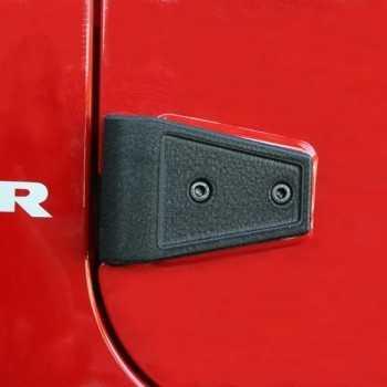Jeu de charniere de porte noire Jeep Wrangler JK 07-18 4 Ptes