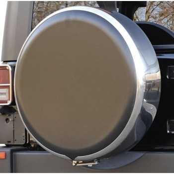 Disque de protection ABS noir pour couvre roue diamètre 73 cm