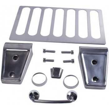 Kit d'habillage de capot en acier inoxydable Jeep Wrangler JK 2007-2012