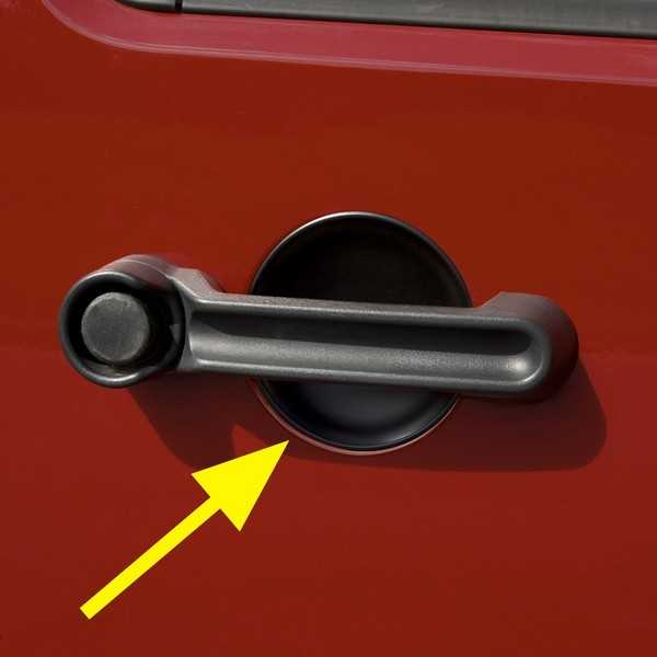 Protection d'intérieur de poignée de porte Jeep Wrangler JK 2007-2018 4 portes