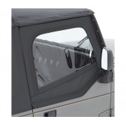 Jeu de demi porte noir avec coin arrière supérieur carré BESTOP Jeep Wrangler YJ 1988-1995