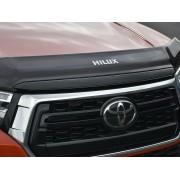 Deflecteur de capot teinté Toyota Hilux Invincible X 2018+ avec logo