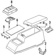 Dessus de console noir Nissan Terrano I 1992-1994