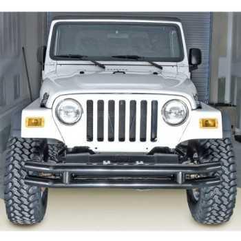 Pare chocs avant noir Jeep Wrangler 1976-2006