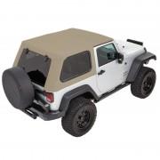 Capotage Bestop® trektop pro hybride Jeep Wrangler JK 2007-2018
