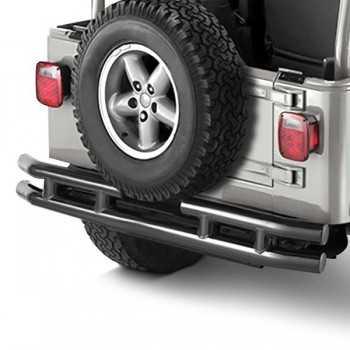Pare choc arrière noir brillant Jeep Wrangler YJ ET TJ 1987 A 2006