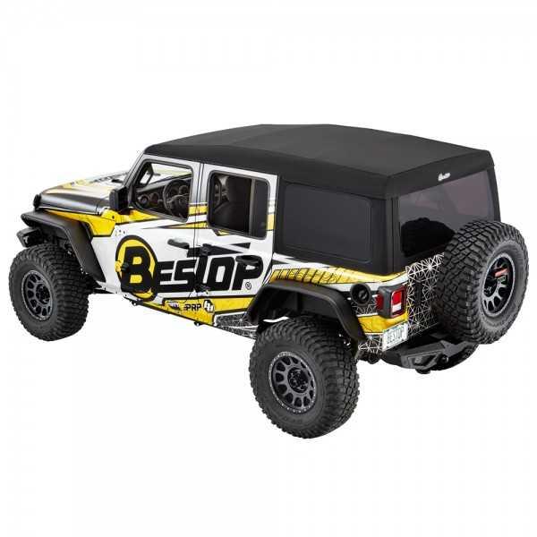 Capotage Supertop® NX BESTOP noir Jeep Wrangler JL 2018- 4 Portes