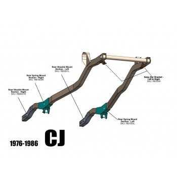 Traverse arrière Jeep CJ5 & CJ7 1976-1986