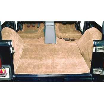 Tapis moquette de luxe brun Jeep Wrangler YJ 87-95