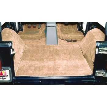 Tapis moquette de luxe brun Jeep CJ et Wrangler YJ 1976-1995