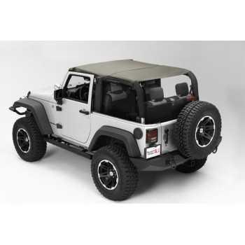 Bikini island toppers kaki Jeep Wrangler JK 07-09 2 portes
