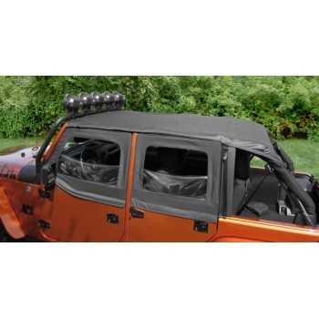 Bikini island toppers noir Jeep Wrangler JK 2010-2018 4 portes